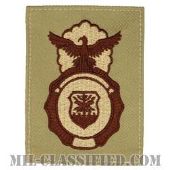 空軍警備隊章 (セキュリティーフォース・セキュリティーポリス)(Security Forces Badge, Security Police Badge)[デザート/パッチ]の画像