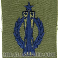 ミサイル運用章 (シニア)(Missile Operations Badge, Senior)[サブデュード/ブルー刺繍/パッチ]の画像