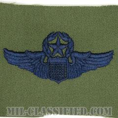 航空機操縦士章 (コマンド・パイロット)(Air Force Command Pilot Badge)[サブデュード/ブルー刺繍/パッチ]の画像