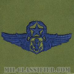 航空機搭乗員章 (将校用マスター・エアクルー)(Air Force Officer Master Aircrew Badge)[サブデュード/ブルー刺繍/パッチ]の画像