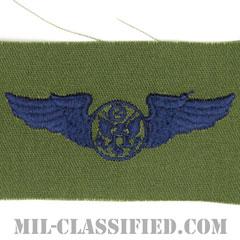 航空機搭乗員章 (下士官用エアクルー)(Air Force Enlisted Aircrew Badge)[サブデュード/ブルー刺繍/パッチ]の画像