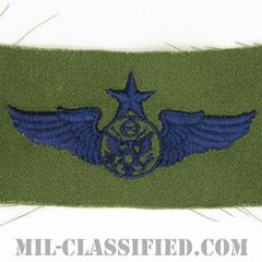 航空機搭乗員章 (下士官用シニア・エアクルー)(Air Force Enlisted Senior Aircrew Badge)[サブデュード/ブルー刺繍/パッチ]の画像