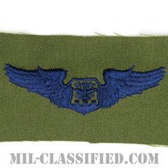 航空士章 (ナビゲーター・ベーシック)(Navigator/Observer Badge, Basic)[サブデュード/ブルー刺繍/パッチ]の画像
