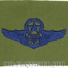 航空士章 (ナビゲーター・マスター)(Navigator/Observer Badge, Master)[サブデュード/ブルー刺繍/パッチ]の画像