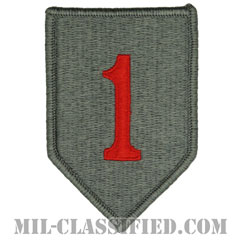 第1歩兵師団(1st Infantry Division, Red One)[UCP(ACU)/メロウエッジ/ベルクロ付パッチ]の画像