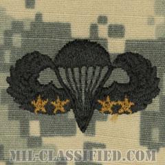 戦闘空挺章 (ベーシック) 降下4回(Combat Parachutist Badge, Basic, Four Jump)[UCP(ACU)/パッチ]の画像