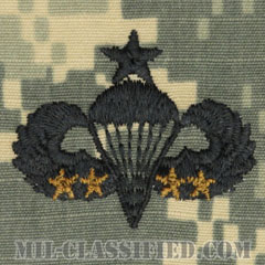 戦闘空挺章 (シニア) 降下4回(Combat Parachutist Badge, Senior, Four Jump)[UCP(ACU)/パッチ]の画像