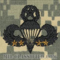 戦闘空挺章 (マスター) 降下4回(Combat Parachutist Badge, Master, Four Jump)[UCP(ACU)/パッチ]の画像