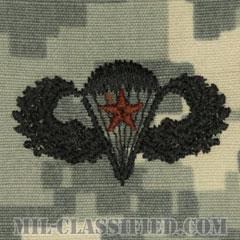 戦闘空挺章 (ベーシック) 降下5回(Combat Parachutist Badge, Basic, Five Jump)[UCP(ACU)/パッチ]の画像