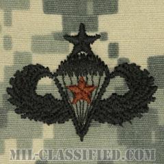 戦闘空挺章 (シニア) 降下5回(Combat Parachutist Badge, Senior, Five Jump)[UCP(ACU)/パッチ]の画像