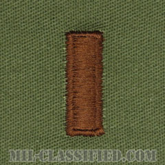 少尉(Second Lieutenant (2LT)))[サブデュード/空軍階級章/パッチ/ペア(2枚1組)]の画像