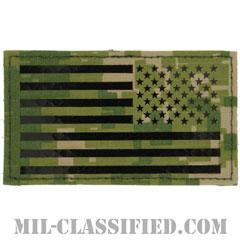 星条旗 NWU Type3 AOR2(リバース)(USA Flag (Reversed))[IR(赤外線)反射素材/ベルクロ付パッチ]画像