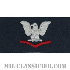 三等兵曹(レッド)(Petty Officer Third Class)[カバーオール/海軍階級章/生地テープパッチ/ペア(2枚1組)]の画像