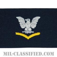 三等兵曹(ゴールド)(Petty Officer Third Class, Good conduct)[カバーオール/海軍階級章/生地テープパッチ/ペア(2枚1組)]の画像