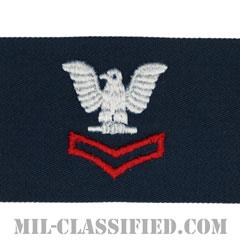 二等兵曹(レッド)(Petty Officer Second Class)[カバーオール/海軍階級章/生地テープパッチ/ペア(2枚1組)]の画像