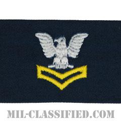 二等兵曹(ゴールド)(Petty Officer Second Class, Good conduct)[カバーオール/海軍階級章/生地テープパッチ/ペア(2枚1組)]の画像