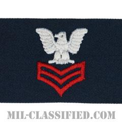 一等兵曹(レッド)(Petty Officer First Class)[カバーオール/海軍階級章/生地テープパッチ/ペア(2枚1組)]の画像