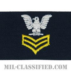 一等兵曹(ゴールド)(Petty Officer First Class, Good conduct)[カバーオール/海軍階級章/生地テープパッチ/ペア(2枚1組)]の画像