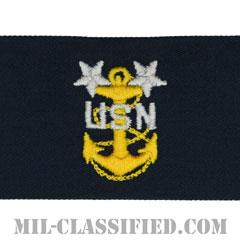最先任上等兵曹(Master Chief Petty Officer)[カバーオール/海軍階級章/生地テープパッチ/ペア(2枚1組)]の画像
