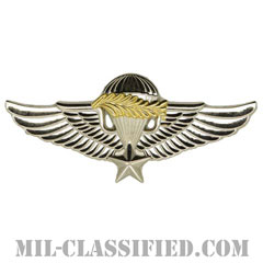 南ベトナム軍空挺章 (マスター)(RVN Parachutist Badge, Master)[カラー/バッジ/レプリカ]の画像