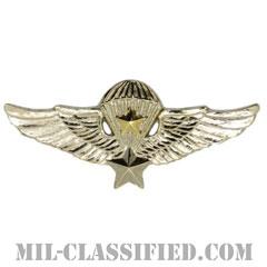 南ベトナム軍空挺章 (シニア)(RVN Parachutist Badge, Senior)[カラー/バッジ/レプリカ]の画像
