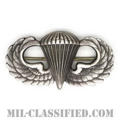 空挺章 (ベーシック)(Parachutist Badge, Basic)[カラー/燻し銀/ピンバック/バッジ/レプリカ]の画像