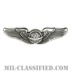 航空士章(航空士章)(AAF Navigator Wing Badge)[カラー/燻し銀/ピンバック/バッジ/レプリカ]の画像
