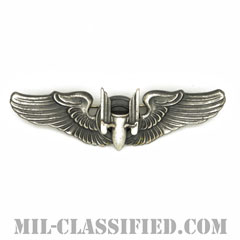 機上射手章 (エアガンナー)(AAF Air Gunner Wing Badge)[カラー/燻し銀/ピンバック/バッジ/レプリカ]の画像
