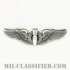 爆撃手章 (ボンバルディア)(AAF Bombardier Wing)[カラー/燻し銀/ピンバック/バッジ/レプリカ]の画像