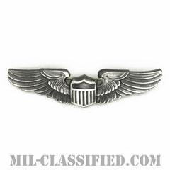 航空機操縦士章 (パイロット)(Air Force Pilot Badge)[カラー/燻し銀/ピンバック/バッジ/レプリカ]の画像