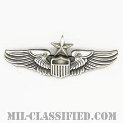 航空機操縦士章 (シニア・パイロット)(Air Force Senior Pilot Badge)[カラー/燻し銀/ピンバック/バッジ/レプリカ]の画像