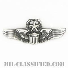 航空機操縦士章 (コマンド・パイロット)(Air Force Command Pilot Badge)[カラー/燻し銀/ピンバック/バッジ/レプリカ]の画像