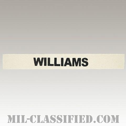 WILLIAMS [カラー/ネームテープ/プリントタイプ/パッチ/レプリカ]の画像