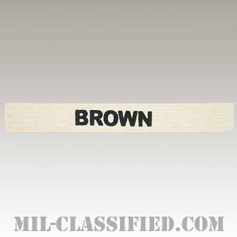 BROWN [カラー/ネームテープ/プリントタイプ/パッチ/レプリカ]の画像