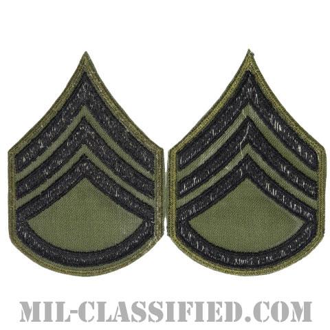 二等軍曹(Staff Sergeant (SSG))[サブデュード/カットエッジ/階級章/パッチ/ペア(2枚1組)]