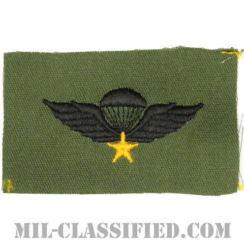 南ベトナム軍空挺章 (ベーシック)(RVN Parachutist Badge, Basic)[パッチ]の画像