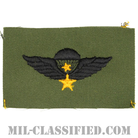 南ベトナム軍空挺章 (シニア)(RVN Parachutist Badge, Senior)[パッチ]の画像