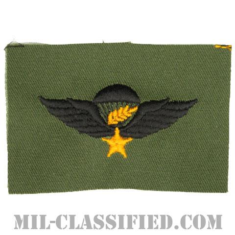 南ベトナム軍空挺章 (マスター)(RVN Parachutist Badge, Master)[パッチ]の画像