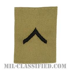 一等兵(Private Second Class (PV2))[デザート/ゴアテックスパーカー用スライドオン階級章]の画像