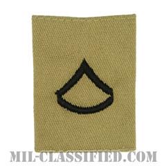 上等兵(Private First Class (PFC))[デザート/ゴアテックスパーカー用スライドオン階級章]の画像