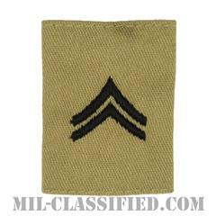 伍長(Corporal (CPL))[デザート/ゴアテックスパーカー用スライドオン階級章]の画像