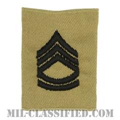一等軍曹(Sergeant First Class (SFC))[デザート/ゴアテックスパーカー用スライドオン階級章]の画像