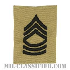 曹長(Master Sergeant (MSG))[デザート/ゴアテックスパーカー用スライドオン階級章]の画像