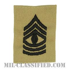 先任曹長(First Sergeant (1SG))[デザート/ゴアテックスパーカー用スライドオン階級章]の画像