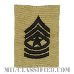 上級曹長(Sergeant Major (SGM))[デザート/ゴアテックスパーカー用スライドオン階級章]の画像