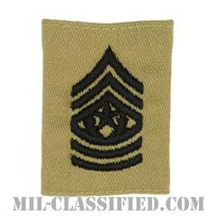 最先任上級曹長(Command Sergeant Major (CSM))[デザート/ゴアテックスパーカー用スライドオン階級章]の画像