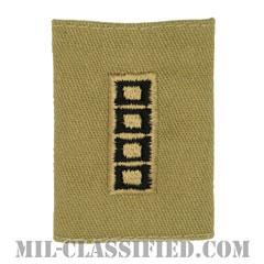 准尉 (MW4/CW5)(Master Warrant Officer/Chief Warrant Officer 5)[デザート/ゴアテックスパーカー用スライドオン階級章(1988-2004)]の画像