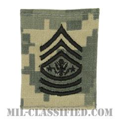 陸軍最先任上級曹長(Sergeant Major of the Army (SMA))[UCP(ACU)/ゴアテックスパーカー用スライドオン階級章]の画像