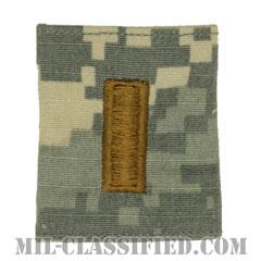 少尉(Second Lieutenant (2LT))[UCP(ACU)/ゴアテックスパーカー用スライドオン階級章]の画像
