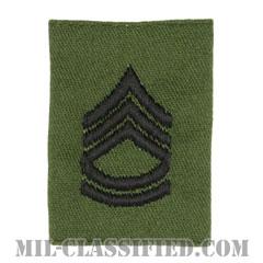 一等軍曹(Sergeant First Class (SFC))[サブデュード/ゴアテックスパーカー用スライドオン階級章]の画像